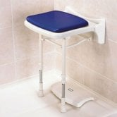 AKW 2000 Series Compact Fold Up Shower Seat Blue