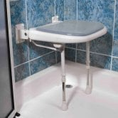 AKW 3000 Series Fold Up Shower Seat - Grey Padded