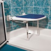 AKW 4000 Series Standard Shower Seat Blue