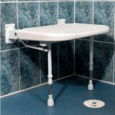 AKW 4000 Series Extra Wide Seat with Legs Support - White Unpadded