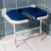 AKW 4000 Series Extra Wide Horseshoe Seat Blue