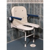 AKW 4000 Series Standard Fold Up Horseshoe Seat and Grey Arms