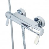 AKW Arka Thermostatic Bar Shower Valve, Dual Handle, Chrome