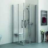 AKW Larenco Bi-Fold Shower Door Only, 760mm Wide, Right Handed