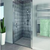 AKW Larenco Duo Alcove Shower Door, 900mm Wide, Non-Handed