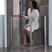 AKW Larenco Duo Care Shower Door Only, 1100mm Wide, Left Handed