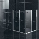 AKW Larenco Duo Care Fixed Panel Bi-Fold Shower Door, 900mm Wide, Non-Handed