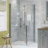 AKW Larenco Duo Shower Door Only, 900mm Wide, Non Handed