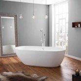 April Cayton Modern Freestanding Bath 1800mm x 840mm - Acrylic