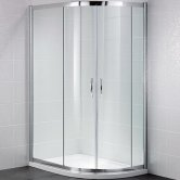 April Identiti2 Offset Quadrant Shower Enclosure 1200mm x 900mm - 8mm Glass