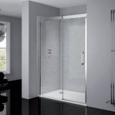 April Prestige2 Sliding Shower Door 1400mm Wide Left Handed - 8mm Glass