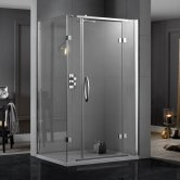 Aquadart Inline Hinged 2 Sided Shower Enclosure 1400mm x 900mm - 8mm Glass