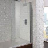 Aquadart Venturi 6 Hinged Bath Screen 1400mm H x 800mm W - 6mm Glass