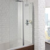 Aquadart Venturi 6 Fixed Bath Screen 1400mm High x 900mm Wide - 6mm Glass