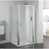 Aquadart Venturi 6 Pivot Shower Door 700mm Wide - 6mm Glass