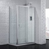 Aquadart Venturi 6 Sliding Shower Door 1200mm Wide - 6mm Glass