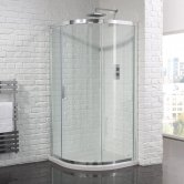 Aquadart Venturi 6 Single Offset Quadrant Shower Enclosure 1200mm x 800mm - 6mm Glass