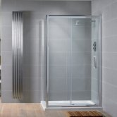 Aquadart Venturi 8 Sliding Shower Door 1500mm Wide - 8mm Glass