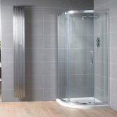 Aquadart Venturi 8 Single Offset Quadrant Shower Enclosure 1200mm x 900mm - 8mm Glass