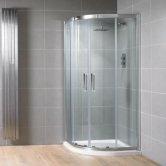 Aquadart Venturi 8 Double Sliding Quadrant Shower Enclosure 800mm x 800mm - 8mm Glass