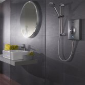 Aqualisa Quartz 8.5kW Electric Shower with Adjustable Height Head Chrome