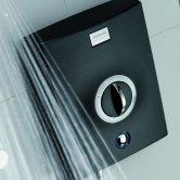 Aqualisa Quartz 8.5kW Electric Shower with Adjustable Height Head Chrome / Graphite
