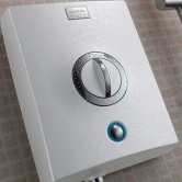Aqualisa Quartz 9.5kW Electric Shower with Adjustable Height Head White / Chrome