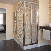 Aqualux AQUA 4 Bi-Fold Door Shower Enclosure 760mm x 760mm Silver Frame - Clear Glass