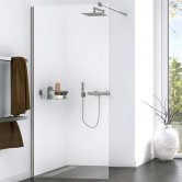 Aqualux Origin Walk-In Shower Panel Kit 1200mm Wide - 8mm Clear Glass