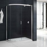 Aquashine Single Offset Quadrant Shower Enclosure 900mm x 760mm - 6mm Glass