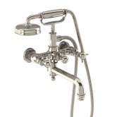 Arcade Wall Mounted Bath Shower Mixer Tap with Tap Handle - Nickel