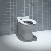 Arley School Junior Back To Wall Toilet 350mm Wide - Open Ring Seat