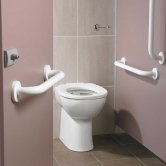 Ideal Standard Contour 21 Ambulant Care Doc M Pack with BTW Disabled Toilet