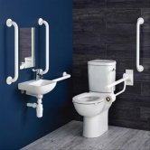 Armitage Shanks Contour 21+ Ambulant Care Doc M Pack with CC Disabled Toilet and Basin