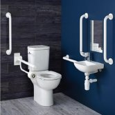 Armitage Shanks Contour 21+ Doc M Pack with Close Coupled Toilet and White Rails - Right Handed