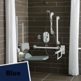 Armitage Shanks Contour 21 Shower Room Doc M Pack with Grab Rail - Blue