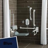 Armitage Shanks Contour 21 Shower Room Doc M Pack with Grab Rail - Blue