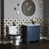 Bayswater Fitzroy Bathroom Suite with Floor Standing Vanity Unit 600mm - 3TH