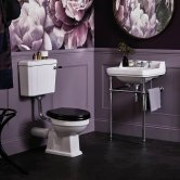 Bayswater Fitzroy Bathroom Suite Low Level Toilet and Basin 560mm - 3TH