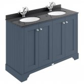 Bayswater Stiffkey Blue 4-Door Vanity Unit 1200mm Wide (excluding Basin)