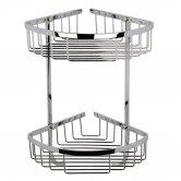 Bayswater Traditional Large 2-Tier Corner Shower Basket Chrome