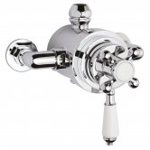 Bayswater Traditional Dual Exposed Concentric Shower Valve White/Chrome