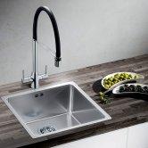 Blanco Archpro Pull-Out Kitchen Sink Mixer Tap - Galvanic Black / Chrome