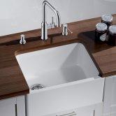 Blanco Belfast 1.0 Bowl Undermount Ceramic Kitchen Sink with Waste 595mm L x 455mm W - Crystal White Gloss