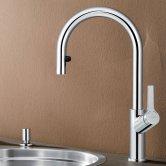 Blanco Carena-S Vario Monobloc Pull-Out Kitchen Sink Mixer Tap - Galvanic Chrome