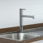 Blanco City Monobloc Kitchen Sink Mixer Tap - Galvanic Chrome