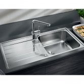 Blanco Classimo XL 6 S-IF 1.0 Bowl Inset Kitchen Sink with Waste and Reversible Drainer 1000mm L x 500mm W