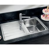 Blanco Classimo 45 S-IF 1.0 Bowl Inset Kitchen Sink with Waste and Reversible Drainer 860mm L x 500mm W