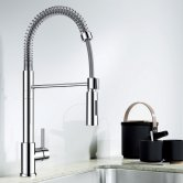 Blanco Ellipse Monobloc Kitchen Sink Mixer Tap - Galvanic Chrome
