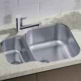 Blanco Essential 530-U 1.5 Bowl Undermount Kitchen Sink with Waste 582mm L x 450mm W - Stainless Steel